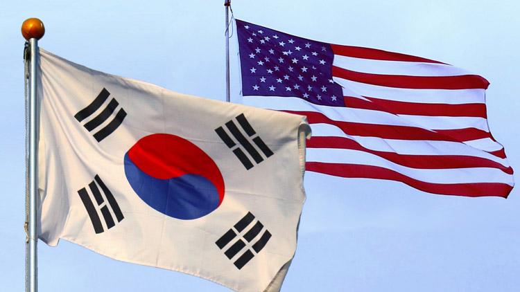 south-korea-usa-flags